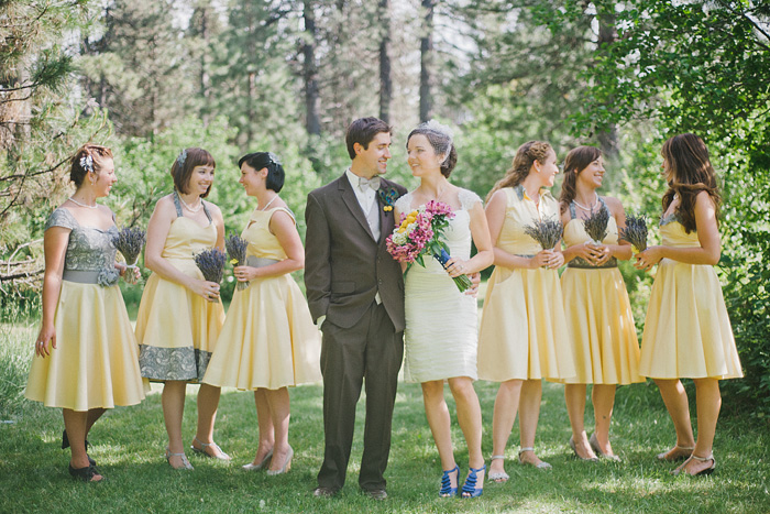 Mt Shasta Wedding Photographer - Mt Shasta Meadow - Bridal Party