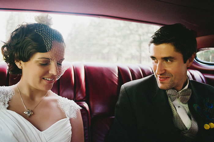 Mt Shasta Wedding Photographer - Bride and Groom Ride to Reception
