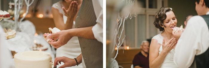 Redding Wedding Photographer - McCloud Mercantile Inn - Cake Cutting
