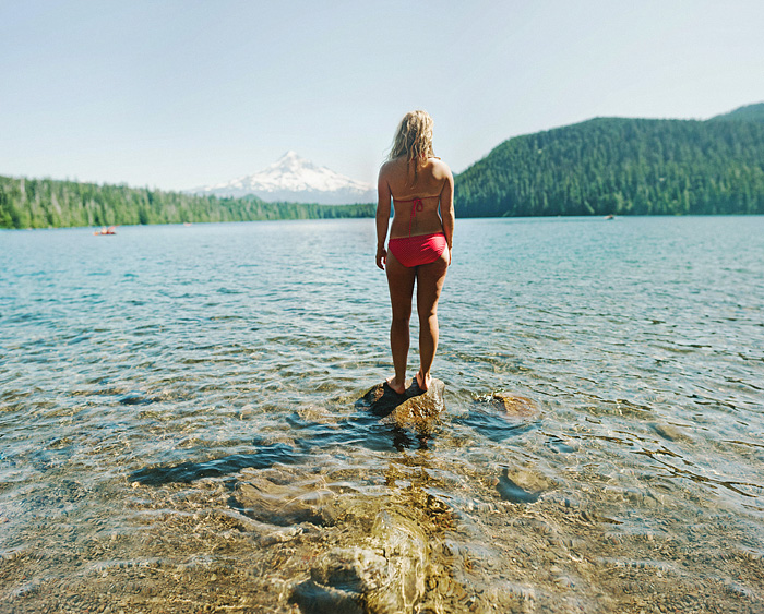 Portland Portrait Photographer - Bokeh Panorama Portrait at Lost Lake - Mt Hood, OR