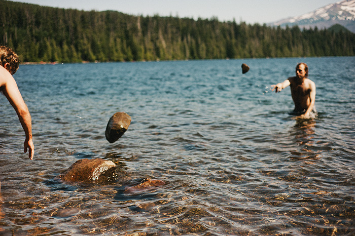Portland Lifestyle Photographer - Throwing Rocks at Lost Lake