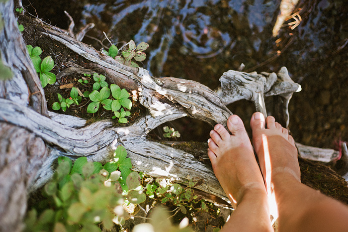 Portland Lifestyle Photographer - Tan Lines on Feet - Lost Lake, OR