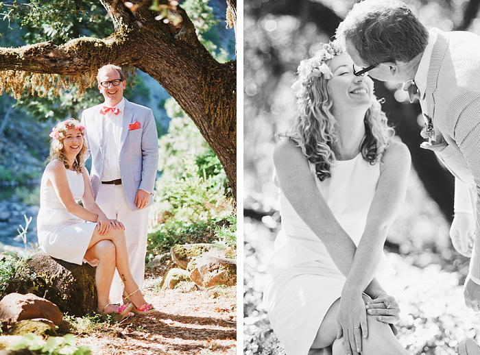 Portraits of Bride and Groom - Smith River wedding - Gasquet, CA