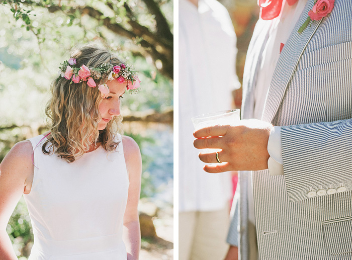 Detail portraits of Bride and Groom - Smith River wedding - Gasquet, CA