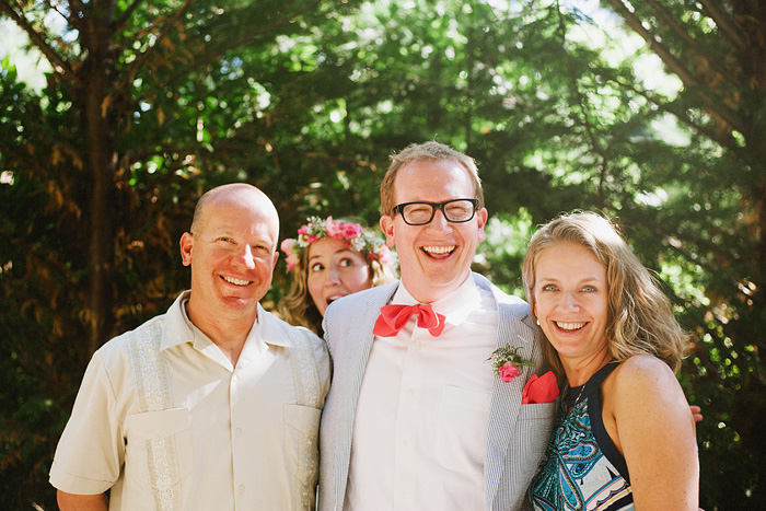 Crescent City Wedding Photographer - Bride photobombs Groom and his siblings in Gasquet, CA