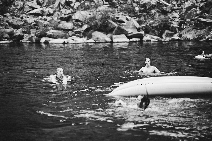 Groom flips kayak with guest in it - Intimate Backyard Wedding - Gasquet, CA