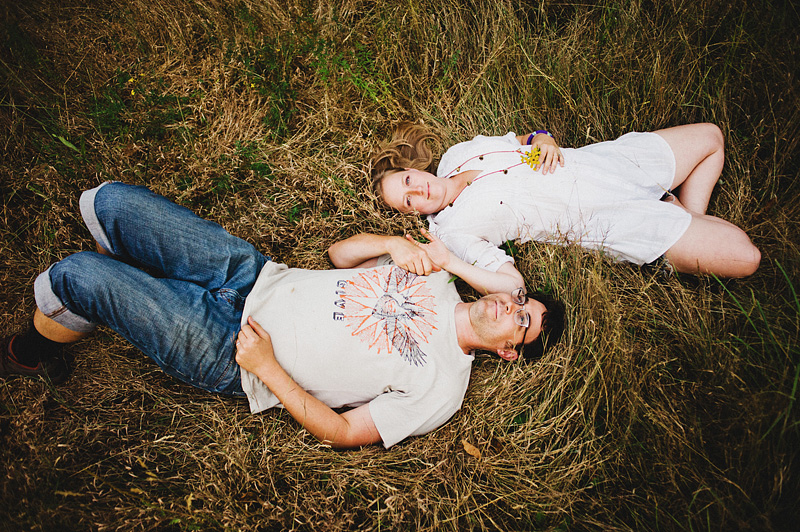 Salem Wedding Photographer - Bride and Groom laying in a field in Jawbone Flats - Opal Creek Ancient Forest