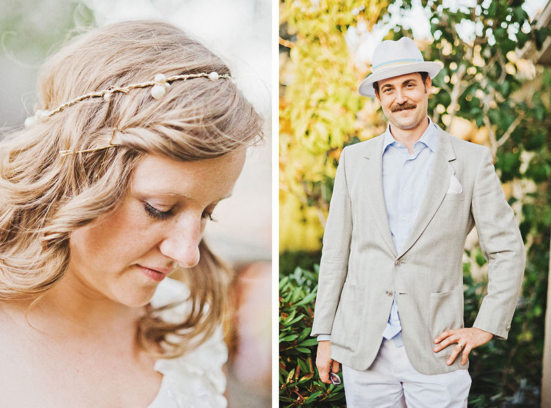 Multnomah Courthouse Wedding Photographer - Diptych of Bride and Groom