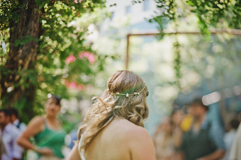 Multnomah Courthouse Wedding Photographer - Bride's crown of pearls