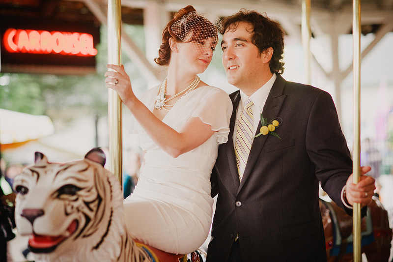 Oregon Wedding Photographers - Reception at Oak Amusement Park
