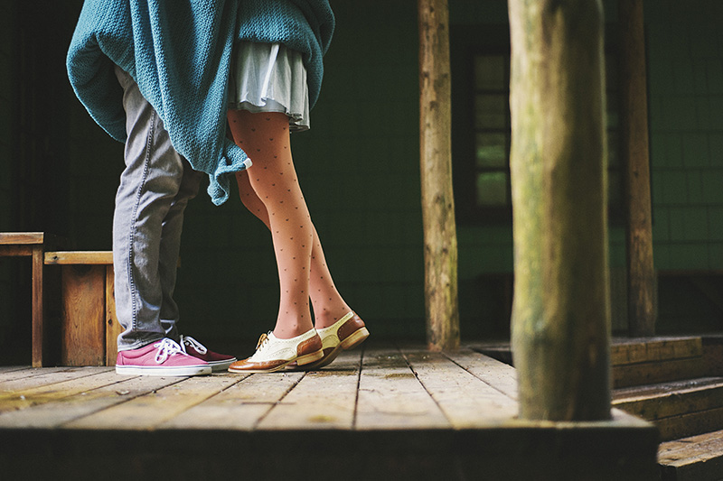 Portland Engagement Photographer - Karen & Josh at Bon Fir Cabin in Mt Hood