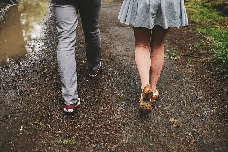 Portland Engagement Photographer - Karen & Josh at Bon Fir Cabin in Mt Hood