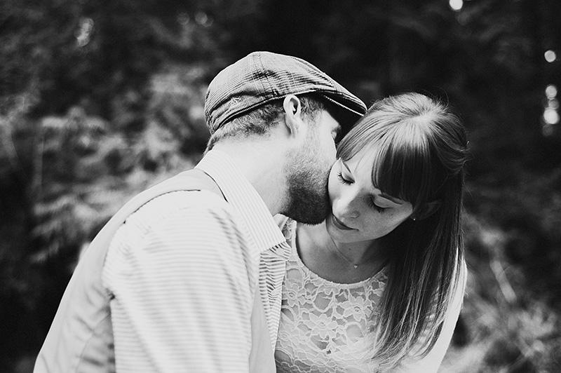 Portland Engagement Photographer - Karen & Josh in the Mt Hood forest