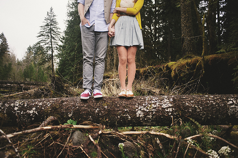 Portland Engagement Photographer - Karen & Josh in the Mt Hood forest