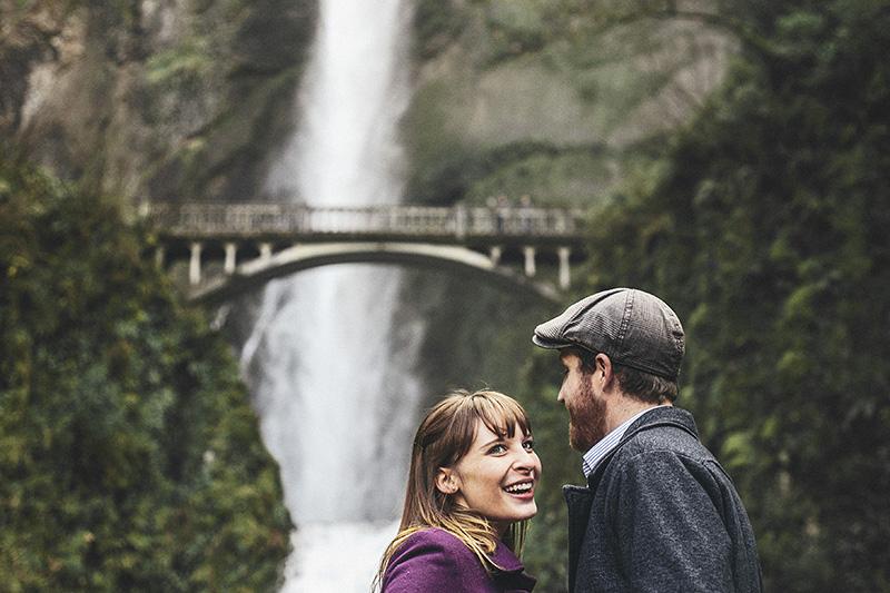 Portland Engagement Photographer - Karen & Josh at Multnomah Falls