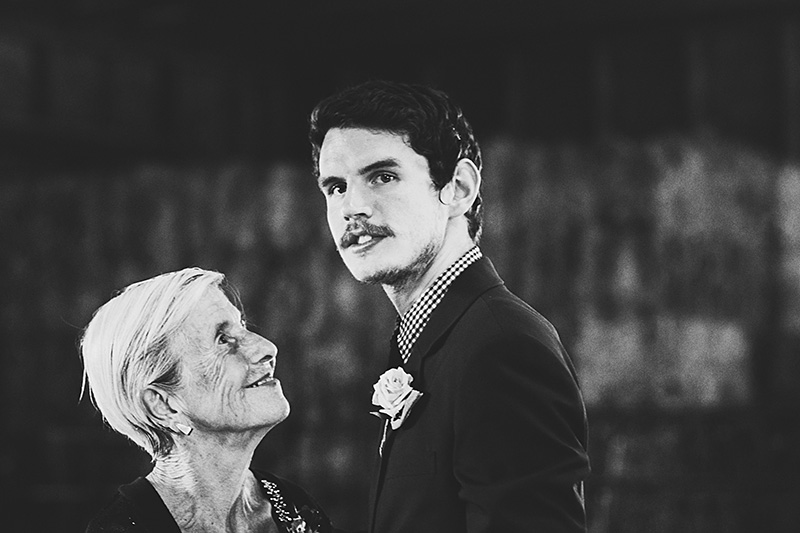 Oregon City Wedding Photographer - Grandma looking up at the Groom after their first dance