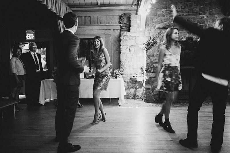 San Bernadino Wedding Photographs - Guests dancing at the Camp Seely reception
