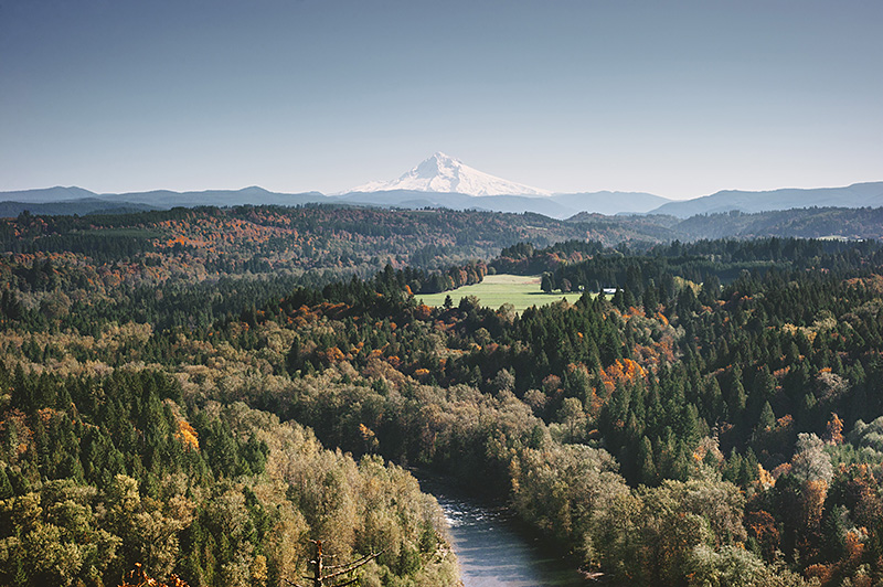 Mt Hood Wedding Photographs - View from Jonsrud Point