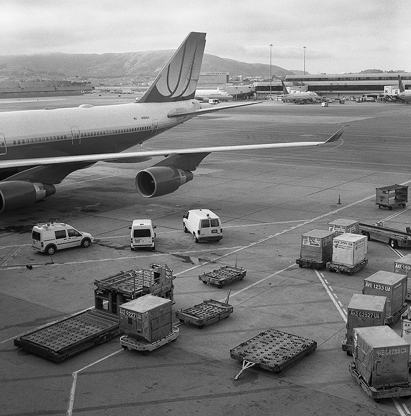 World Travel Photographer - Film photograph of San Francisco Int'l Airport
