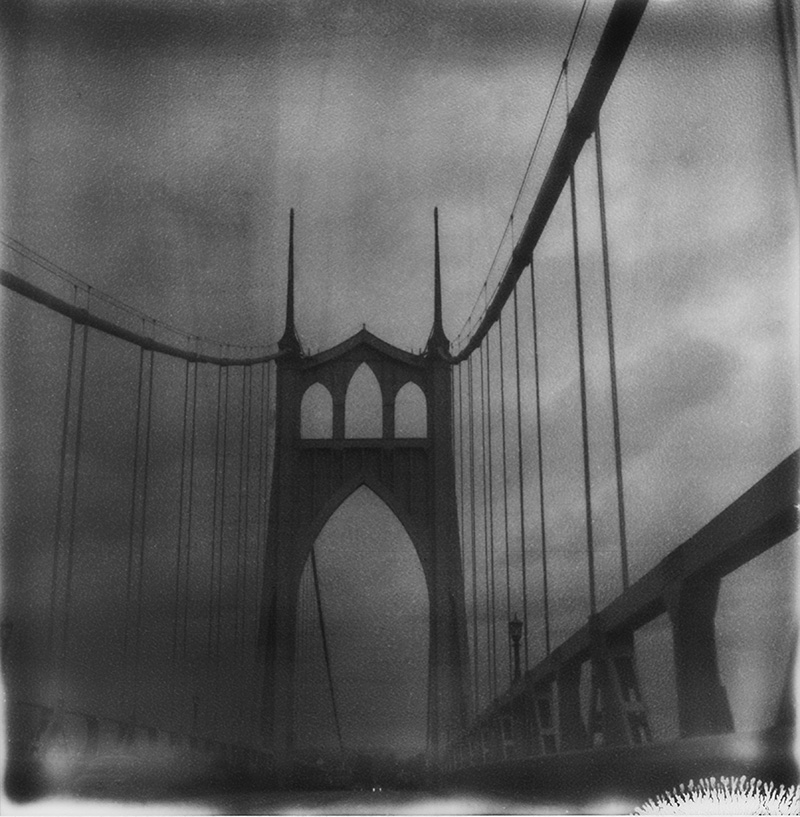 Portland Film Photographer - St. John's Bridge shot on a Polaroid SX70