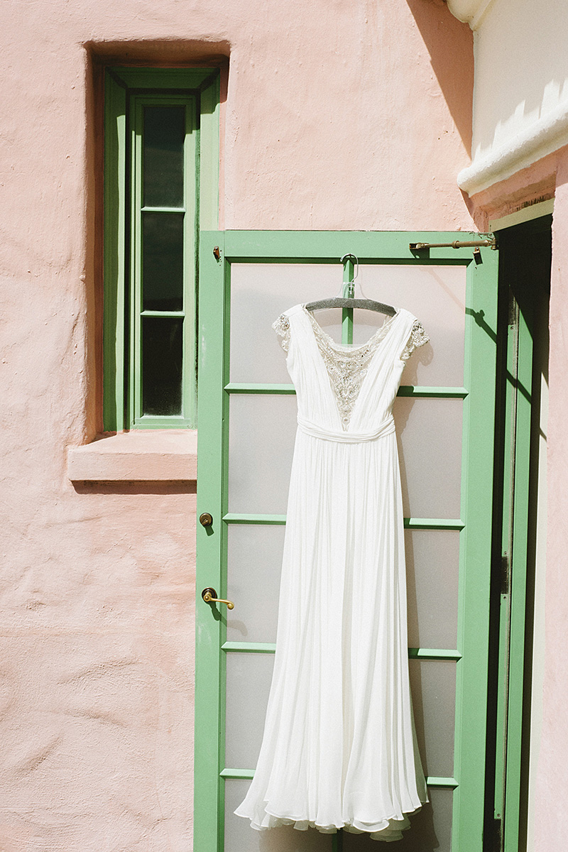 St Petersburg Wedding Photographer - Bride's dress hanging in the Vinoy Renaissance Hotel