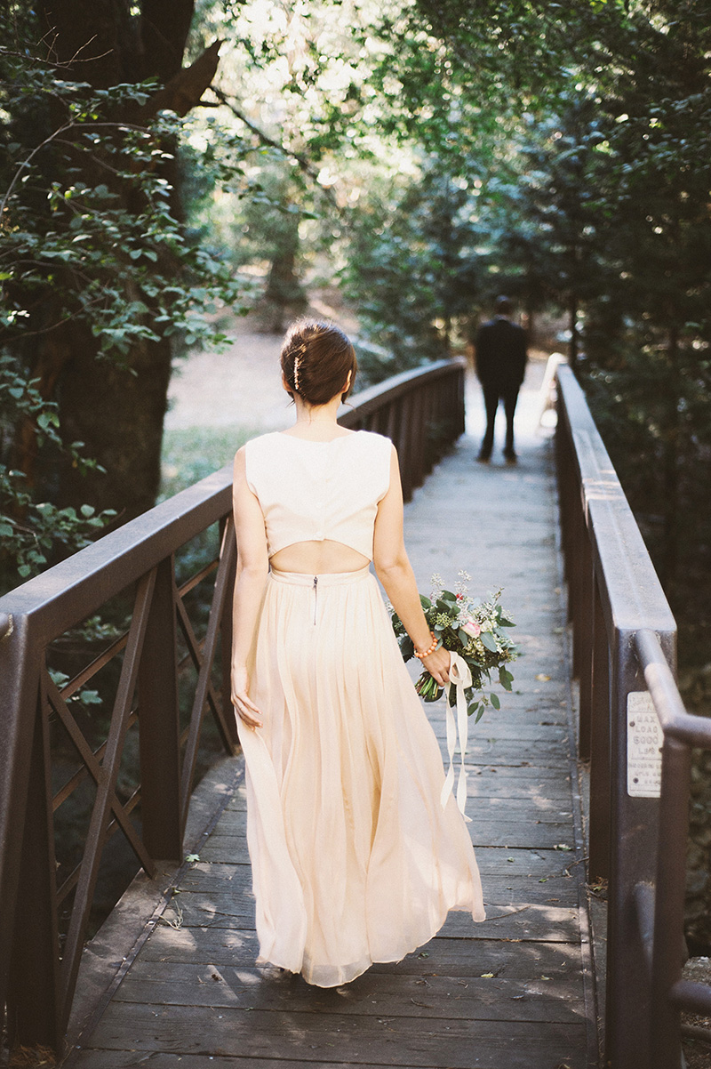 Bride walking up to Groom for their First Look | Kate & Will's Camp Seely Wedding | Kim Smith-Miller