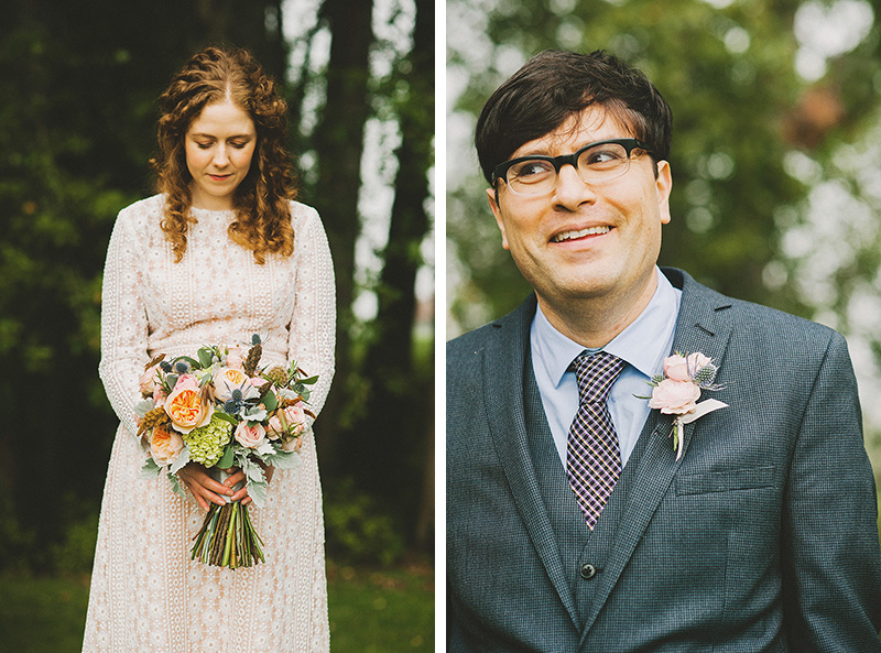 Portraits of the Bride and Groom - Cathedral Park Elopement in Portland, OR