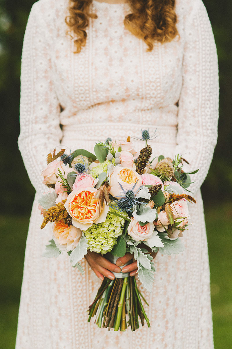 The Bride's bouquet - Cathedral Park Elopement in Portland, OR