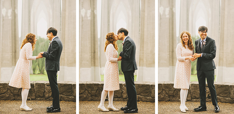 Eleanor and Max's Cathedral Park Elopement in Portland, OR