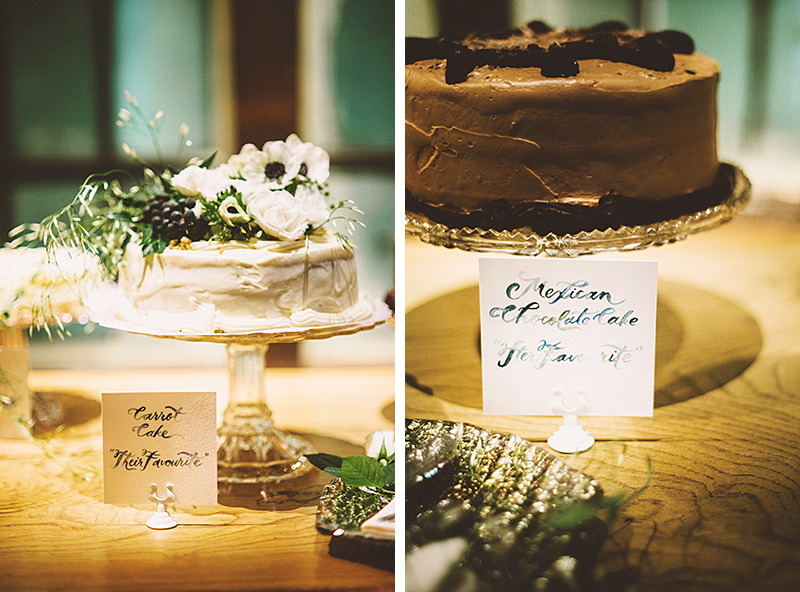 Wedding cakes on display - Sodo Park Wedding Photographer