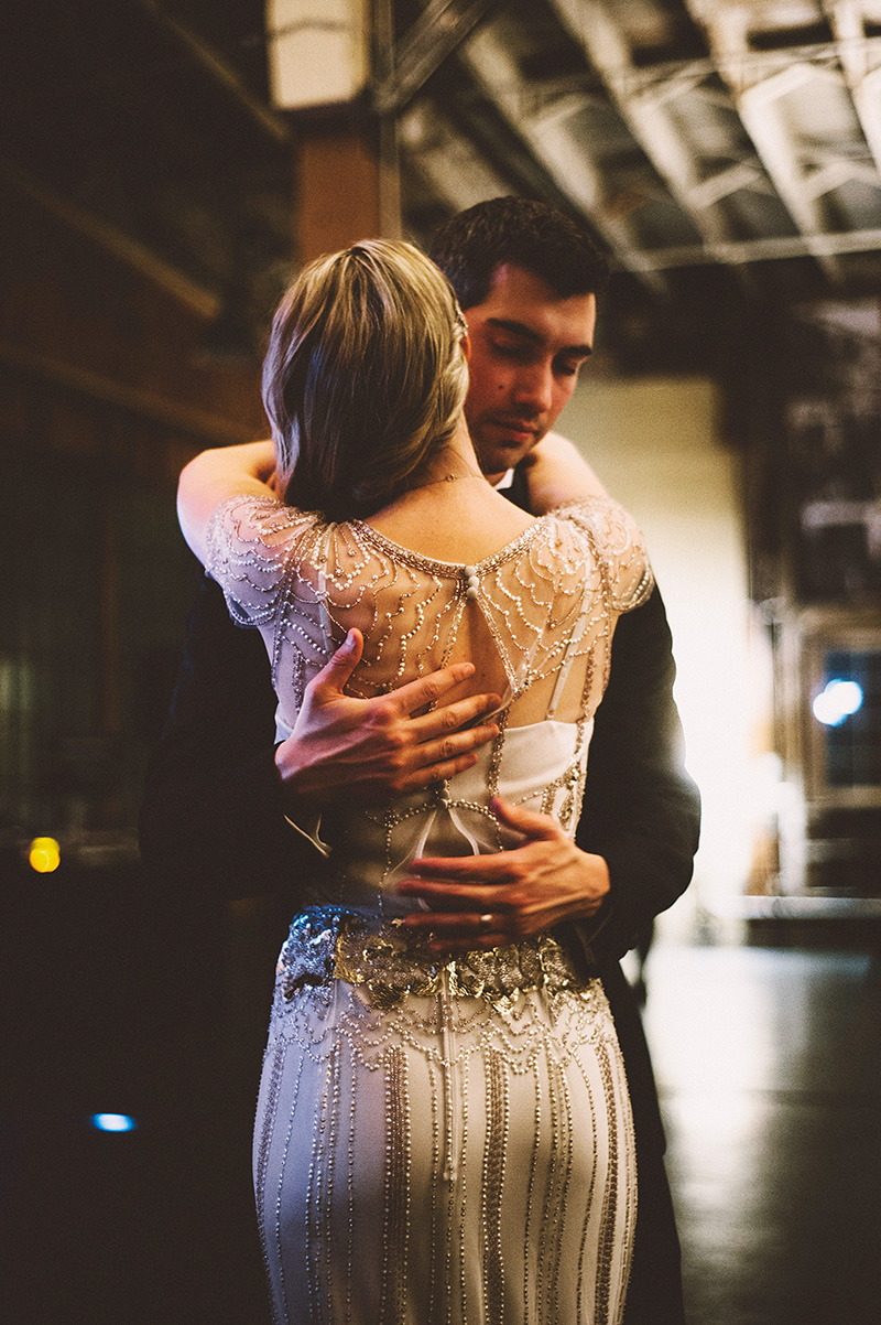 Bride and Groom's first dance. Sodo Park Wedding Photographer