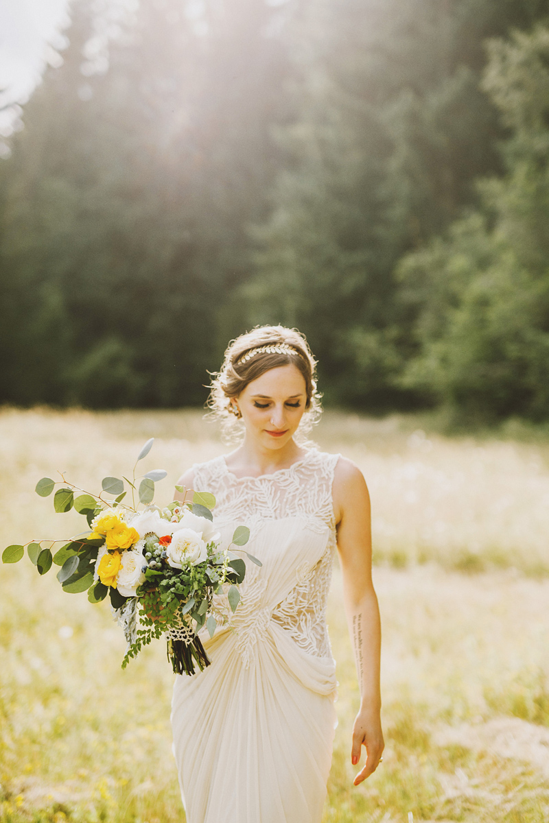 Portrait of the bride - Pendarvis Farm Wedding