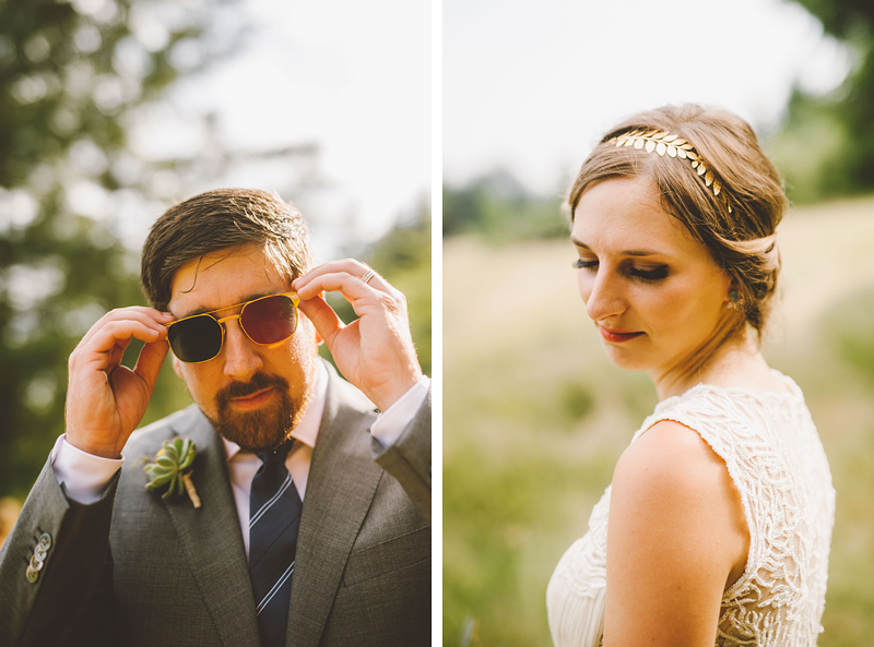 Portraits of the bride and groom - Pendarvis Farm Wedding