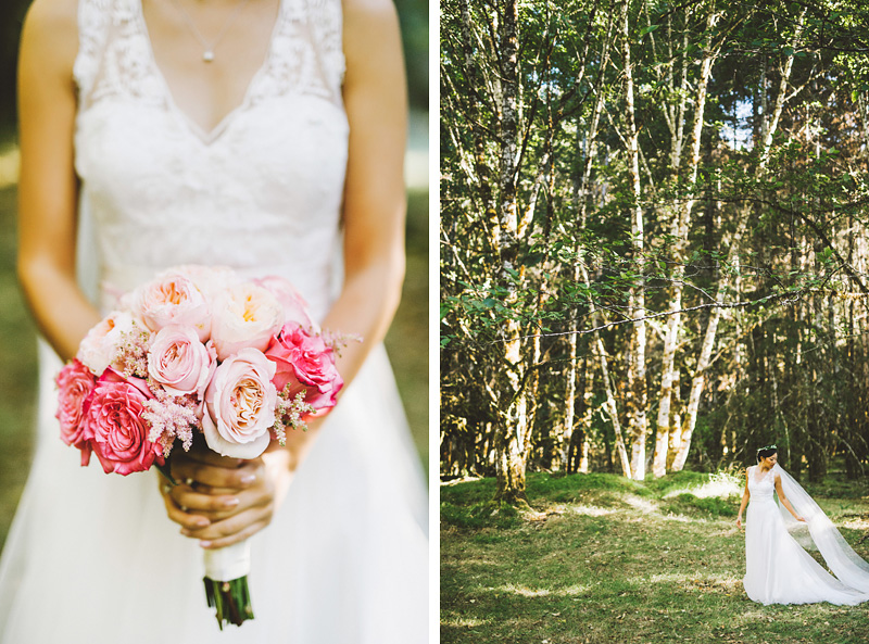 Bridal portraits at a Nature Bridge Wedding
