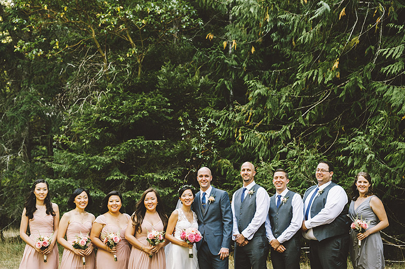Wedding Party at a Nature Bridge Wedding