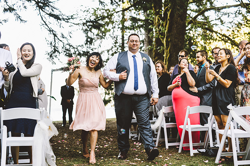 Wedding party recessional |  Nature Bridge Wedding