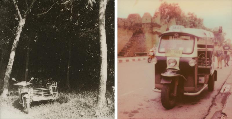 Tuk tuks in Thailand | SLR680 Polaroid