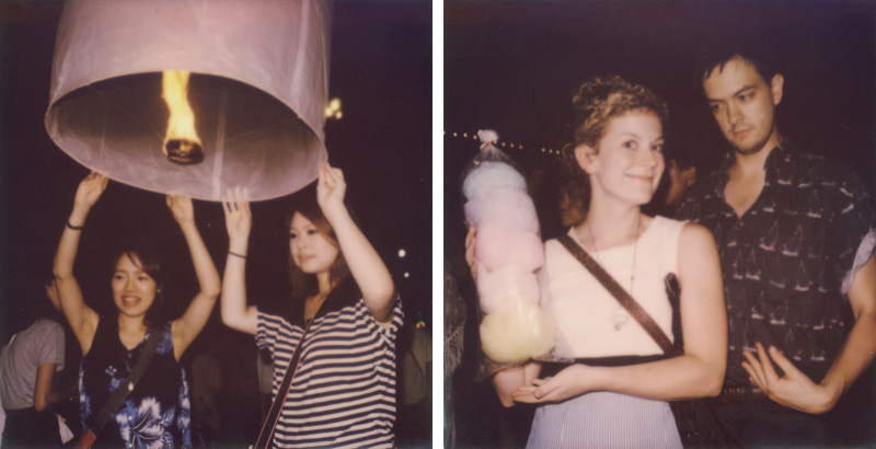 Loi Krathong Celebrations | SLR680 Polaroid
