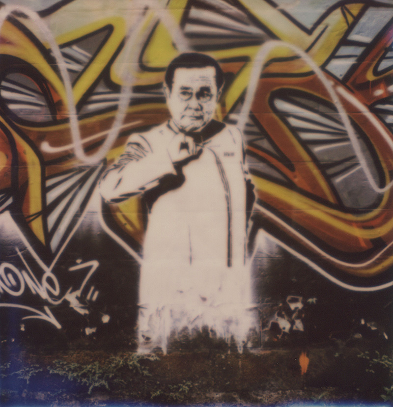 Graffiti of the Thai Junta General | SLR680 Polaroid