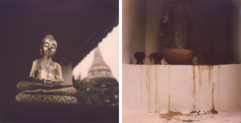Shrines from Wats in Chiang Mai | SLR680 Polaroid