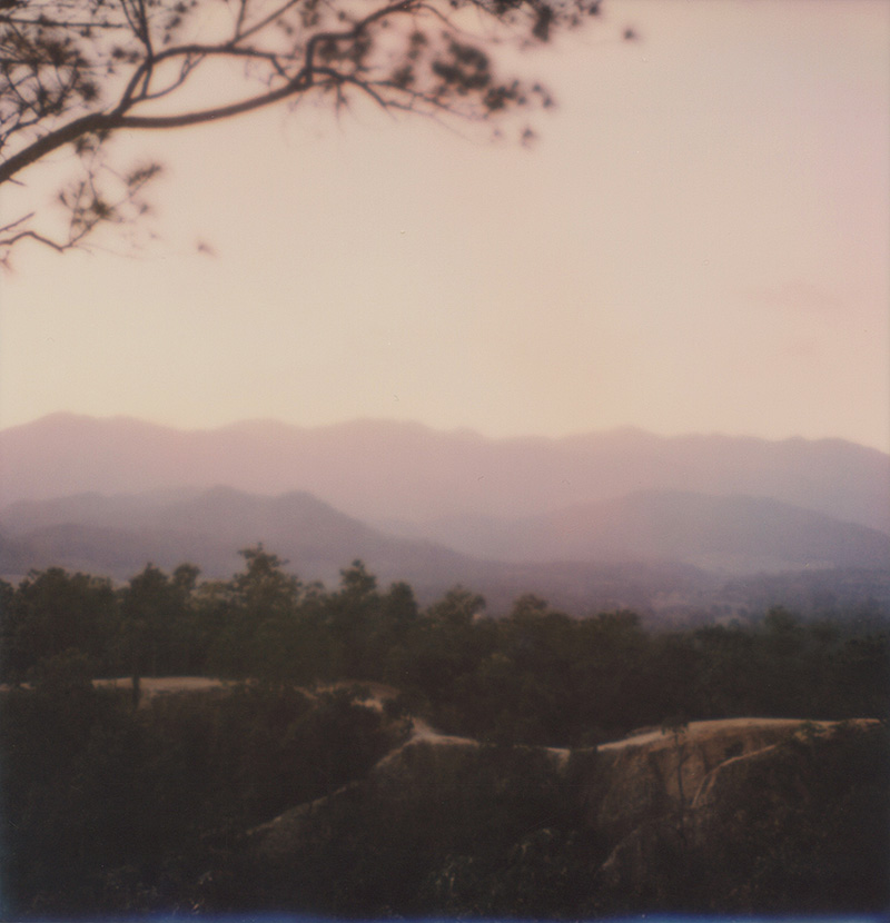 Sunset over Pai Canyon in Thailand | SLR680 Polaroid