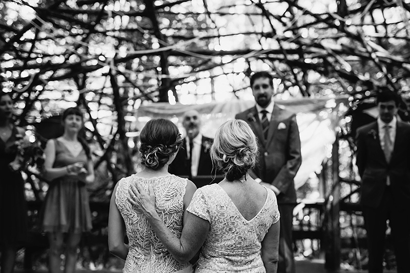 Woods Stage Ceremony at Pendarvis Farm - Best Portland Wedding Photography