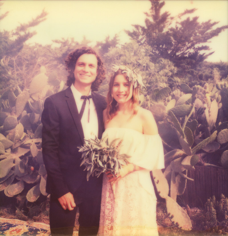 Polaroid of Bride and Groom in Carmel, CA - Best Portland Wedding Photography