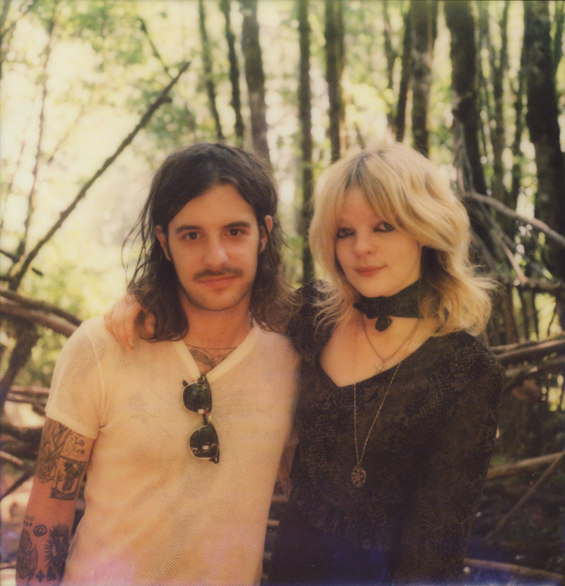 Polaroid portrait of Jessica Pratt and Cyrus Gengras at Pickathon 2015