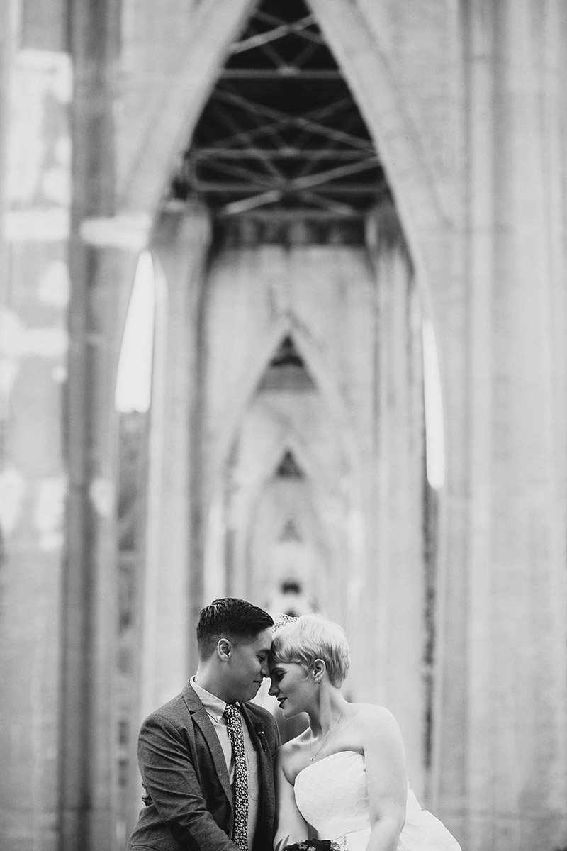 Cathedral Park Elopement - Best Portland Wedding Photography