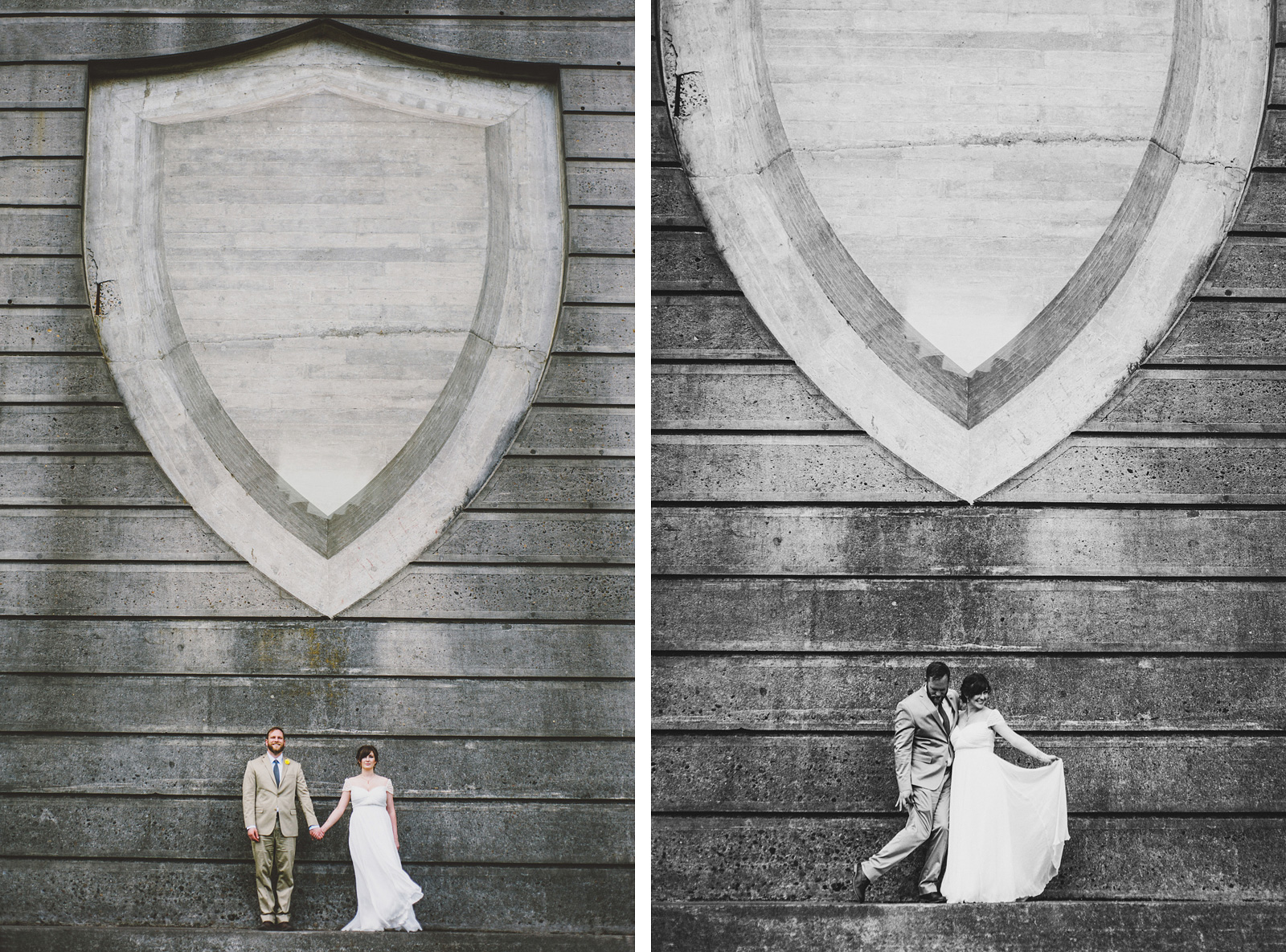 Portraits of Bride and Groom | Cathedral Park Wedding