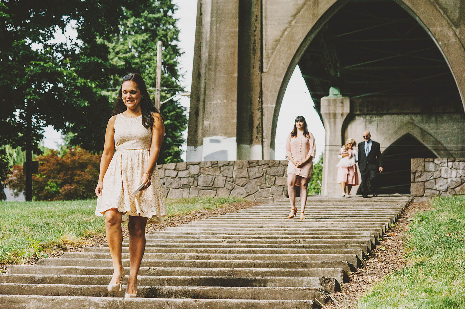 Ceremony Processional | Cathedral Park Wedding
