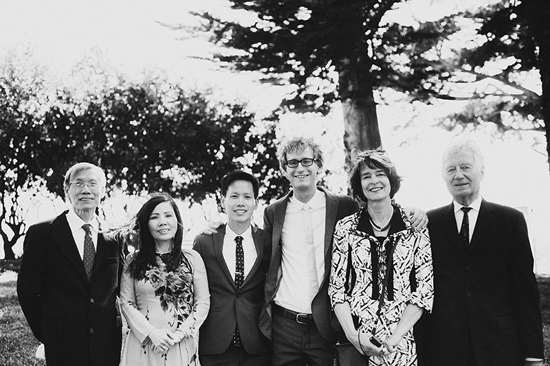 Foreign Cinema Wedding - Family Portraits in Alamo Square Park