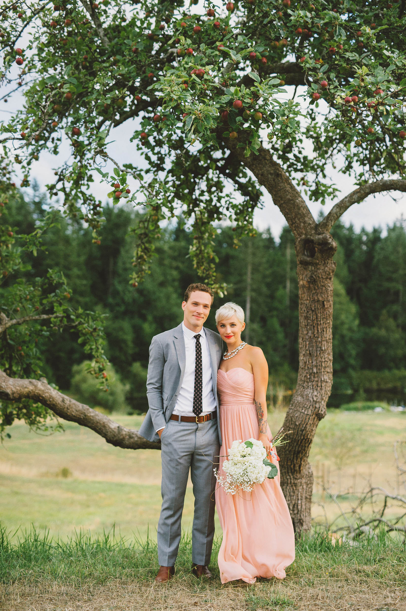 Orcas Island wedding - Bride and Groom portraits at Camp Kramer