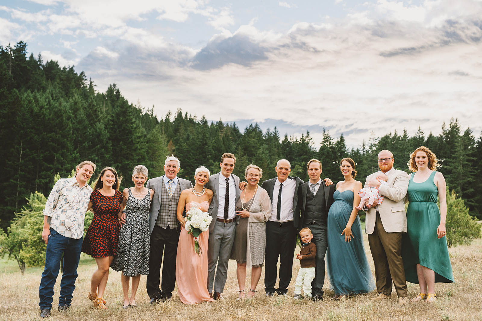 Orcas Island wedding - family portraits at Camp Kramer